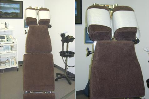 Chiropractor's adjustment table